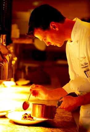 Studio executive chef Craig Strong works in the kitchen of the restaurant at Montage Laguna Beach.