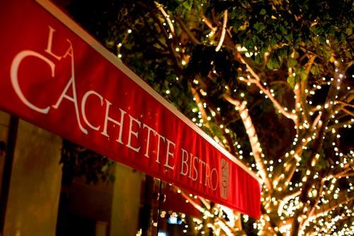 La Cachette Bistro, a new French restaurant on Ocean Avenue in Santa Monica, features an outdoor patio.