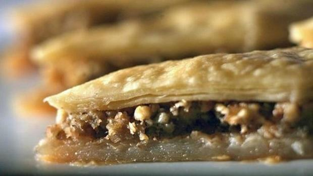 "Our favorite baklava recipe is rich with butter, and the sweet dessert has a gentle tang from fresh lemon juice. <a href=""http://www.latimes.com/features/food/la-fo-ramadan-rec2-20110825,0,820895.story"">Click here for the recipe.</a>"