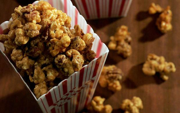 "Does it get any better than caramel corn? It's the sort of stuff that turns even sophisticated adults into greedy kids. <a href=""http://www.latimes.com/features/food/la-fo-caramel-corn-s,0,6003075.story"">Click here for the recipe.</a>"