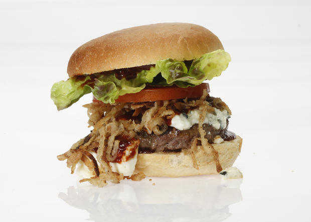 "This is one of the top five burgers in the L.A. Times' first Battle of the Burgers. <a href=""http://www.latimes.com/features/food/la-fo-burgerbattlerec2-20110620,0,7327426.story"" target=""_blank"">Click here for the recipe.</a>"