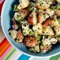 Potato salad with celery and red onion