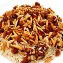 Aunt Mary's pilaf with topping