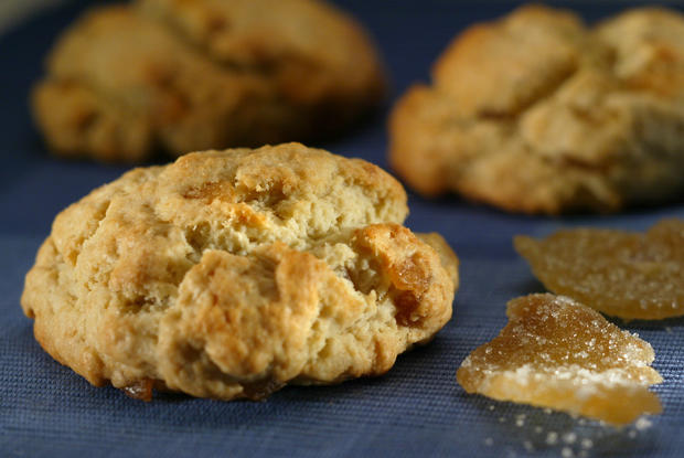 "These festive scones call for both fresh and crystallized ginger. <a href=""http://www.latimes.com/features/la-fo-sos8-2008oct08,0,6935187.story"" target=""_blank"">Click here for the recipe.</a><br> <br> <b>RELATED:</b><br> <br> <a href=""http://www.latimes.com/features/food/thanksgiving/"">More holiday recipes from the L.A. Times Test Kitchen</a>"