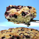 Rustic blueberry buckle