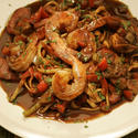 King's Fish House seafood jambalaya linguine