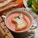 Tomato soup with ghost toast