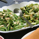 Meyer lemon green beans with almonds