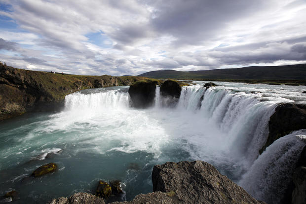 Godafoss, one of the most beautiful waterfalls in Iceland.