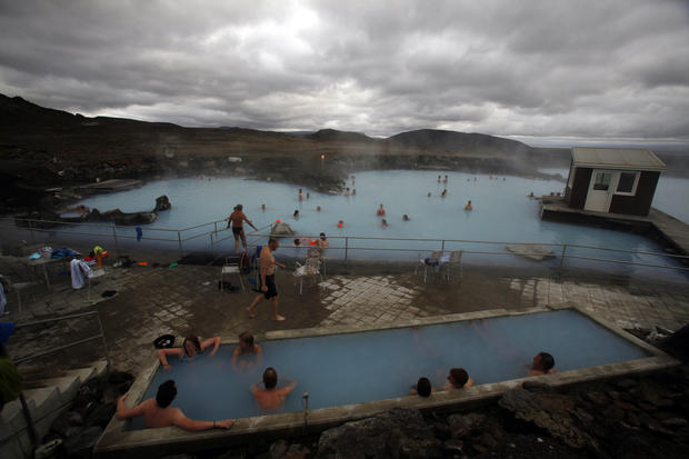 A natural hot bath near Lake Myvatn in northwest Iceland.