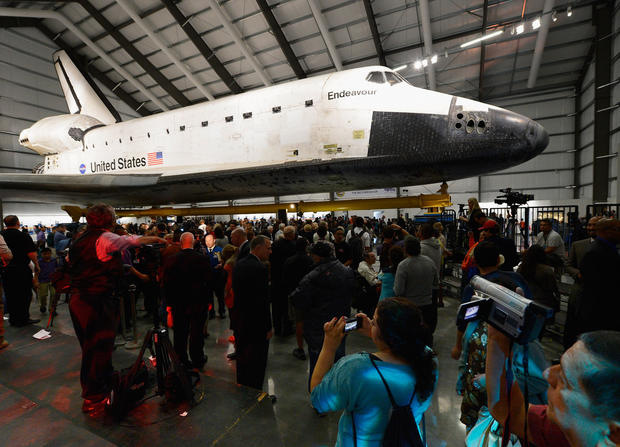 "If you missed the flyover or parade through Los Angeles, see the shuttle at the California Science Shuttle. The exhibit, which opened Oct. 30, is accompanied by a companion show, ""Endeavour: The California Story,"" which includes displays and artifacts.<br><br>  Price: $2 service charge per ticket; admission to the California Science Center is free<br><br>  Where to find: California Science Center, 700 Exposition Park Drive, Los Angeles; reserve tickets online at<br><br>  <a href=""http://www.californiasciencecenter.org/Exhibits/AirAndSpace/endeavour/endeavour.php"">http://www.californiasciencecenter.org/Exhibits/AirAndSpace/endeavour/endeavour.php</a><br><br>  --JL"