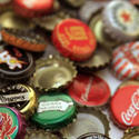 Metal bottle caps and jar lids