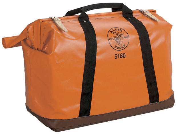 <strong>IN THE BAG:</strong> Hugely popular among contractors, the Klein Tools equipment bag has a classic look and sturdy design. Perhaps it will inspire Dad to ask if he can rehang the photos or unclog the sink? It's $90.