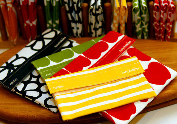"Our pick at <a href=""http://www.thegreenlifeco.com"">the Green Life</a> on Main Street in Santa Monica: reusable sandwich and snack bags by LunchSkins ($8.99 to $9.99 each) in vibrant designs reminiscent of the renowned Finnish textile studio Marimekko."