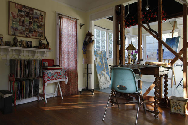 Soubiran's second-floor unit, which previous owners rented out, is now her art studio.