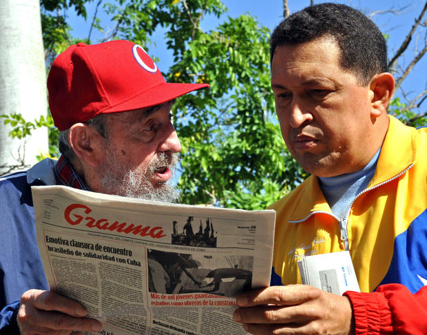 Castro and Chavez meet in Havana on June 28, 2011.