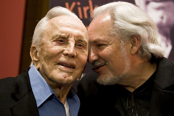 "Kirk Douglas, left, with Jeff Kanew, director of ""Before I Forget,"" were at the premiere screening of  the movie.  It was held at the Writers Guild Theater in Beverly Hills to raise awareness of the Motion Picture & Television Fund."