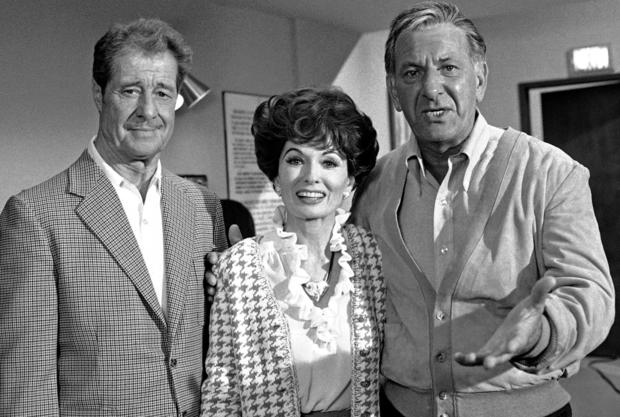 "Actors Don Ameche and Ann Blyth guest star with Jack Klugman on ""Quincy."""