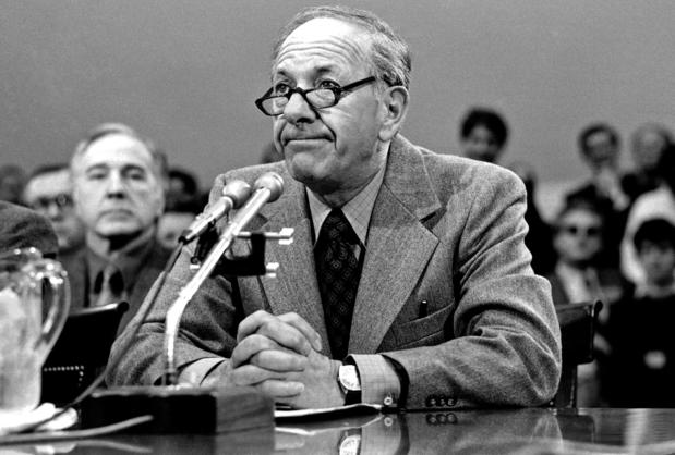 Jack Klugman testifies before a congressional subcommittee on drug reform..