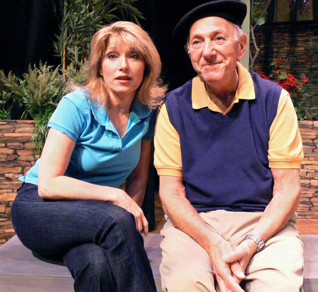 "Liz Larsen and Jack Klugman in a production of the play ""The Value of Names"" in 2007."