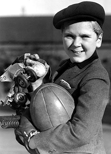 "Emotive young Jackie Cooper is nominated for a best actor Academy Award for his work in ""Skippy"" (1931), directed by his uncle, Norman Taurog. This photo appears in the Los Angeles Times book, ""High Exposure: Hollywood Lives -- Found Photos from the Archives of the Los Angeles Times."" <br>