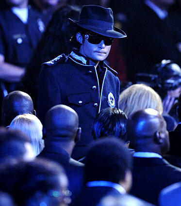 Actor Corey Feldman arrives for the memorial service for Michael Jackson at Staples Center in Los Angeles.