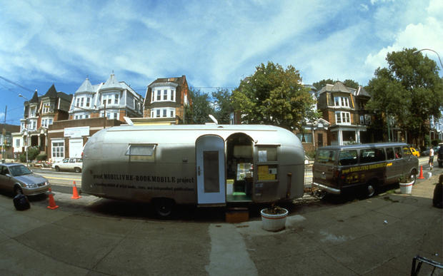 The Mobilivre bookmobile, based in Canada, is an updated Airstream trailer.