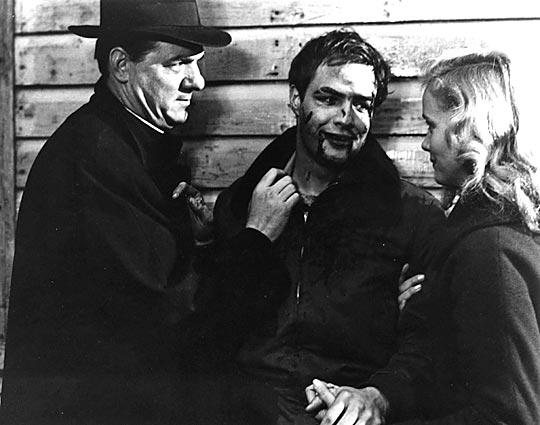 "Malden (left) with Marlon Brando and Eva Marie Saint in 1954's ""On the Waterfront."""