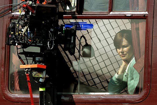 "Nicole Kidman on the set of ""The Railway Man"" at Bo'ness railway station Bo'ness, United Kingdom."