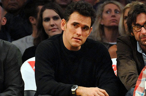 "Matt Dillon also was courtside at the L.A.-New Orleans game. <a href=""http://lakersblog.latimes.com/lakersblog/"">Follow the purple and gold around the clock at our Lakers blog.</a>"
