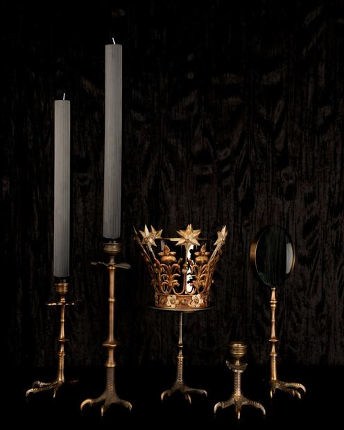 "For some of Gold Bug's goth goodness at lower prices, these claw candlesticks, magnifying glass and crown dish have the heft of brass, so they feel substantial as well as novel.  <br><br>$40 to $75, <A href=""http://goldbugpasadena.com/holiday-gift-guide"">Gold Bug</a>, 22 E. Union St., Pasadena, (626) 744-9963"