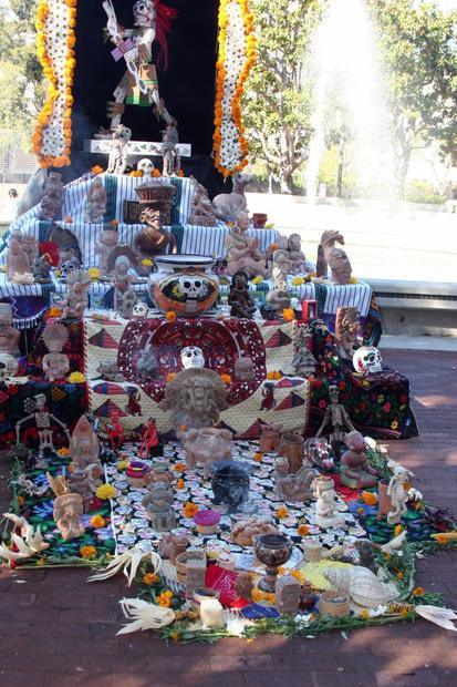 More than 100 altars were set up for the Day of the Dead procession in Santa Ana in 2011.