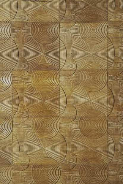 Another look at Indah Circles, with the pattern repeated on tile with a natural wax finish.