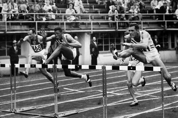 "A versatile athlete, Campbell, center, was the first African American to win a gold medal in the Olympic decathlon. He bested then-world record holder Rafer Johnson at the 1956 Melbourne Summer Games. He was 78. <a href=""http://www.latimes.com/news/obituaries/la-me-milt-campbell-20121105,0,3341296.story"" class=""center_label"">Full obituary</a>