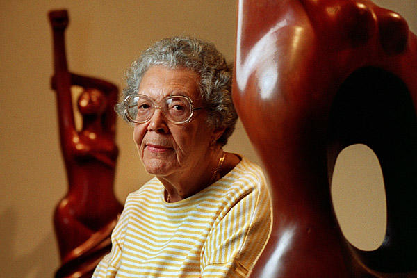 "The U.S.-born sculptor and printmaker  was among the 20th century's top black artists. She lived most of her life in Mexico, blending art and social consciousness. Her work confronted the most disturbing injustices against African Americans. She was 96. <a href=""http://www.latimes.com/news/obituaries/la-me-elizabeth-catlett-20120404,0,6304211.story""><span class=""center_label"">Full obituary</span></a><br>