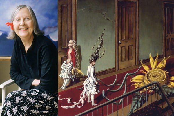 "Over more than a century, American artist and poet Dorothea Tanning collided and consorted with artistic titans of the 20th century who included Pablo Picasso, John Cage and Joseph Cornell. She designed sets for George Balanchine ballets, played romantic matchmaker for poet Andre Breton and appeared in Hans Richter's avant-garde films, but she remained best known as the wife of Surrealist Max Ernst, to whom she was married for nearly 30 years. Above, a detail from her 1943 painting ""Eine Kleine Nachtmusik."" She was 101. <a href=""http://www.latimes.com/news/obituaries/la-me-dorothea-tanning-20120205,0,3487297.story""><span class=""center_label"">Full obituary</span></a><br> <br> <a href=""http://www.latimes.com/news/obituaries/la-me-2011notables-gallery,0,155600.photogallery""><span class=""center_label"">Notable deaths of 2011</span></a>"