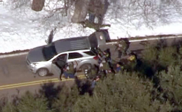 San Bernardino County sheriff's spokeswoman Jodi Miller confirmed that deputies responded to a vehicle theft about 12:20 p.m., and the resident who reported the theft said the suspect matched Dorner's description.