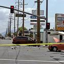 Nick Adenhart accident scene in Fullerton