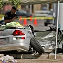 Angels Nick Adenhart crash scene