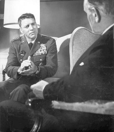 "Burt Lancaster is head of the Joint Chiefs of Staff in the Cold War political thriller ""Seven Days in May,"" Serling's 1964 political thriller directed by John Frankenheimer and also starring Kirk Douglas."