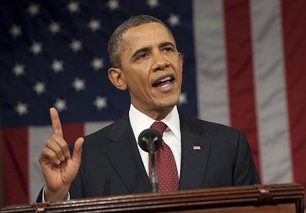 President Obama delivers his State of the Union address before a joint session of Congress.