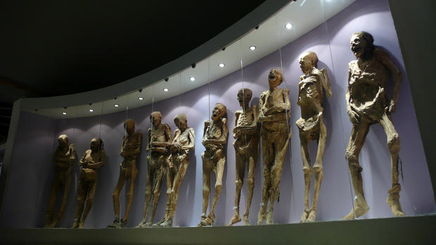 At this museum in central Mexico, you'll find over 100 mummies exhumed from a Guanajuato cemetery between 1870 and 1958. In 1870, a local law required families to pay a tax to ensure that their deceased loved ones stayed buried. The penalty for not paying was disinterment.