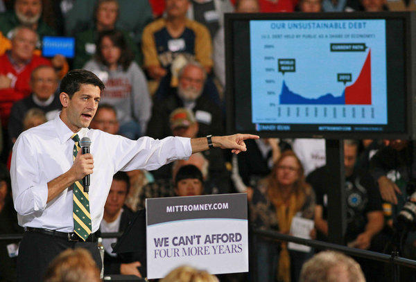 "<p>This is the tax increase that middle-class families will supposedly face if President Obama is re-elected, according to the Romney-Ryan campaign. As the GOP candidate for vice president, Rep. Paul Ryan (R-Wis.), <a href=""http://www.upi.com/Top_News/US/2012/10/13/Ryan-Obama-would-raise-middle-class-taxes/UPI-97771350174600/#ixzz29liOPOB"">put it</a> Oct. 13, ""President Obama refuses to get serious about spending. And given the president's preference to raise taxes, just to pay the interest on the debt that the president has racked up and proposed, a middle-income family will see their tax bill grow by $4,000 a year.""</p>