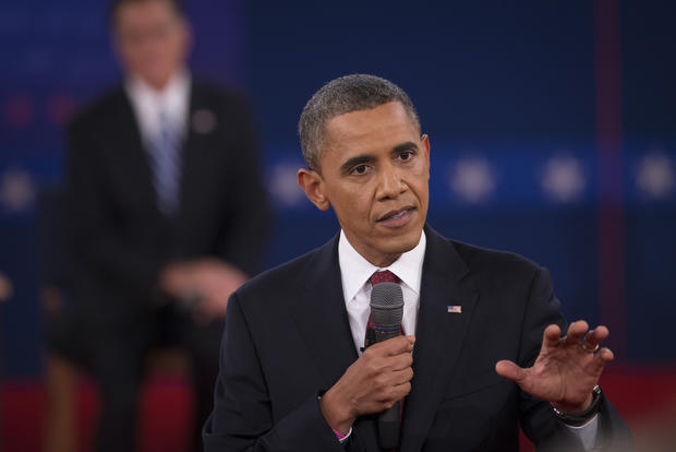 "President Obama often asserts that his GOP rival, former Massachusetts Gov. Mitt Romney, wants to cut taxes by $5 trillion. As Obama put it at the second presidential debate on Tuesday, ""Along with what he also wants to do in terms of eliminating the estate tax, along what he wants to do in terms of corporate [tax cuts], changes in the tax code, it costs about $5 trillion."" The Obama campaign arrived at that figure by extrapolating from an <a href=""http://taxpolicycenter.org/taxtopics/romney-plan.cfm"">estimate</a> by the Tax Policy Center (a project run by the centrist Brookings Institute and the liberal Urban Institute) of the revenue sacrificed in one year by Romney's proposed reduction in tax rates. But that's misleading because it ignores the other half of Romney's proposal for the tax code, which is to roll back deductions, credits and exemptions. Granted, Romney hasn't specified which of those breaks he would eliminate, or the total value thereof. He's simply said that, after factoring economic growth, the changes in tax law would neither increase nor reduce the federal deficit. Talking about the cost of the tax plan by looking only at the rate cuts and not the offsetting reduction in tax breaks is like saying a rainbow is red, yellow and orange."