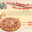 Double Sensation Pizza from Pizza Hut