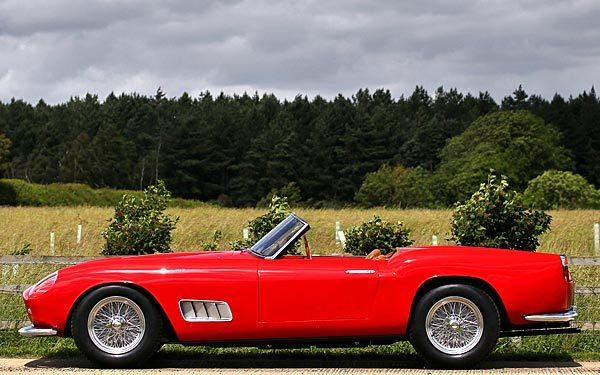 A 1957 Ferrari 250 GT LWB Cal Spider Prototype is expected to fetch $6 million to $8 million at the 2012 Pebble Beach auctions.