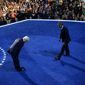 Clinton bows to Obama