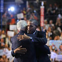 The presidential hug