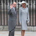 Prince Albert of Monaco with his fiancee