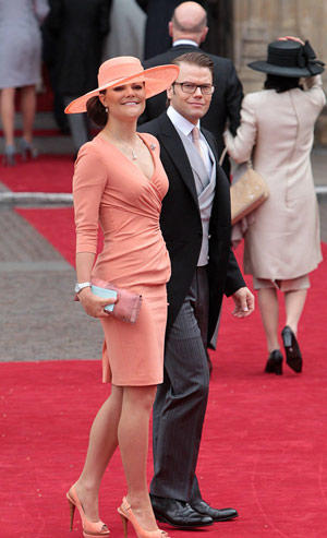 "Sweden's Crown Princess Victoria and Prince Daniel arrive at Westminster Abbey.<br> <br> <a href=""http://framework.latimes.com/2011/04/29/royal-wedding-london-prince-william-kate-middleton/#/0""><b>Photo gallery: Prince William and Kate Middleton are married</b></a><br> <br> <a href=""http://www.latimes.com/news/nationworld/world/royal-wedding-dress-pictures,0,1460803.photogallery""><b>Photo gallery: The royal wedding dress</b></a>"